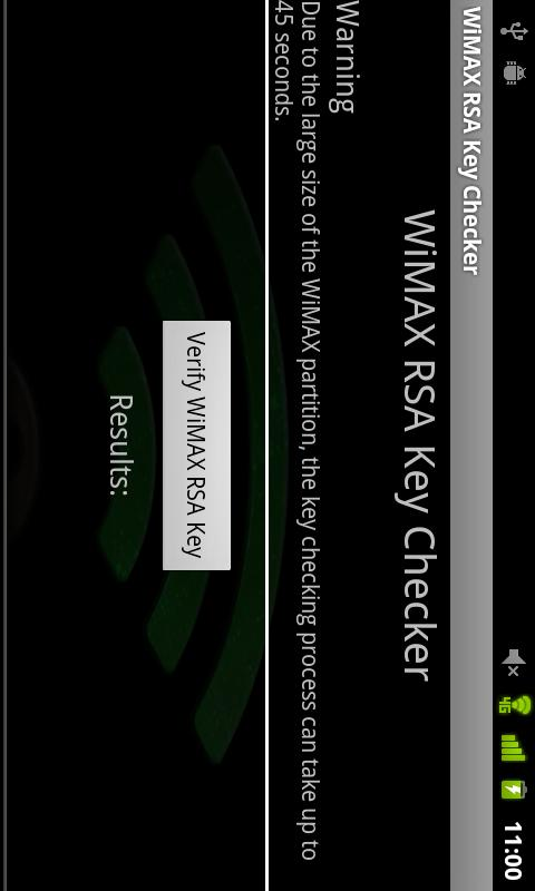 WiMAX Key Checker- screenshot