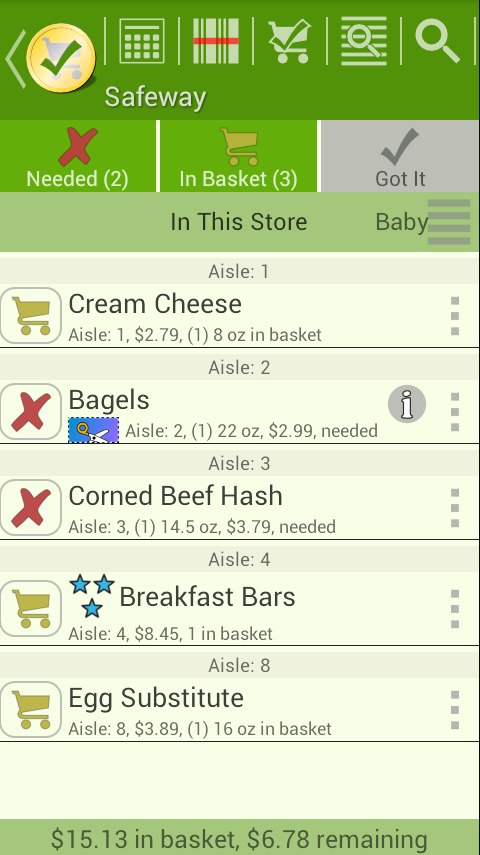 rShopping List - screenshot