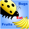 bugs eat fruits icon