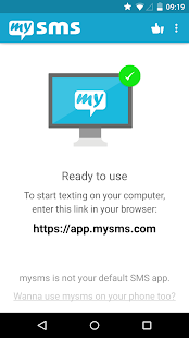 mysms - SMS vom Computer Screenshot