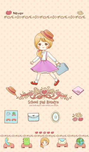 玩個人化App|Schoolgirl Rosalyn Dodol Theme免費|APP試玩