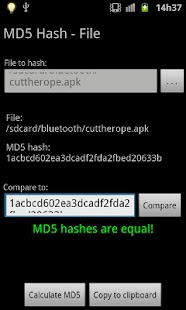 MD5 Hash (Free, No Ads)- screenshot thumbnail