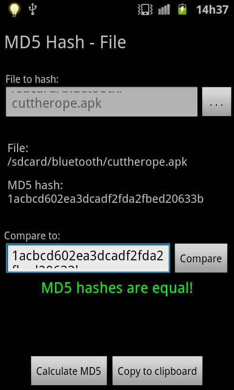 MD5 Hash (Free, No Ads)- screenshot