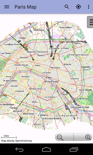 Paris Offline City Map