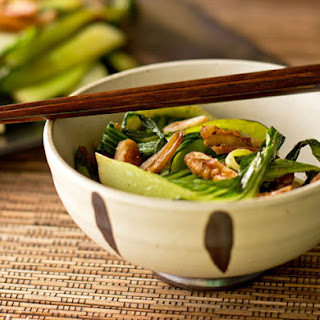 Bok Choy with Pecans and Lemongrass