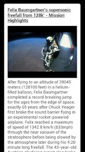 Felix Baumgartner Freefall- screenshot thumbnail