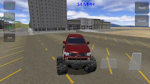 4x4のモンスタートラックの3D