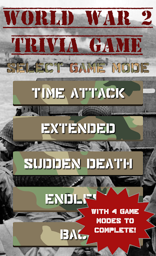 World War II Trivia Game