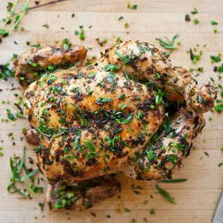 Simple Roast Chicken with Lemon and Herbs