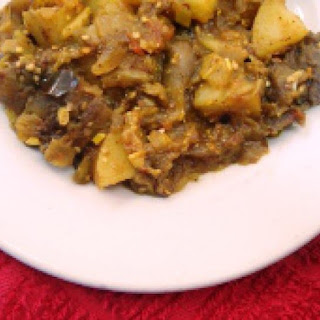 Vegan Charred Eggplant and Potato Curry