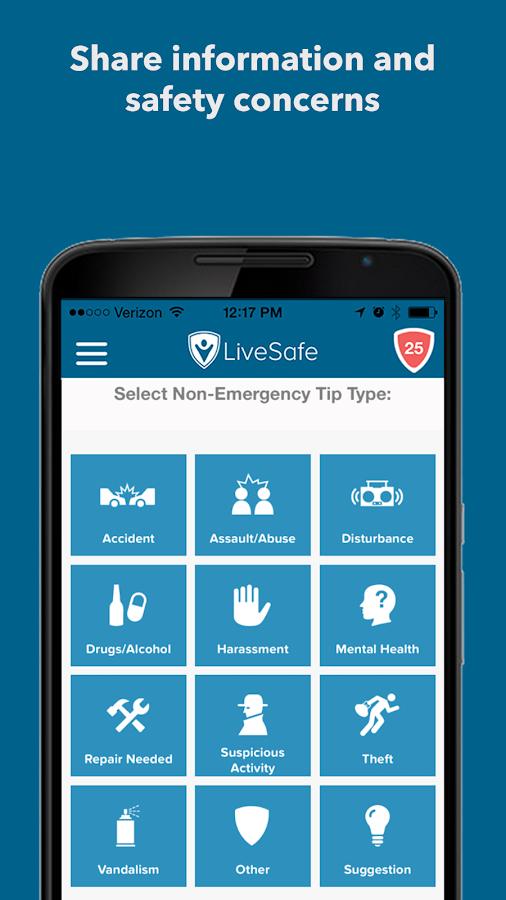 LiveSafe - screenshot