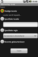 Screenshot of AlarmeringDroid