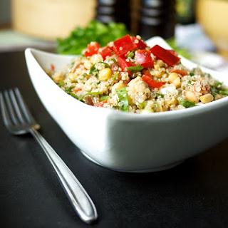 Sorrel, Chickpea, Red Pepper & Quinoa Tabbouleh