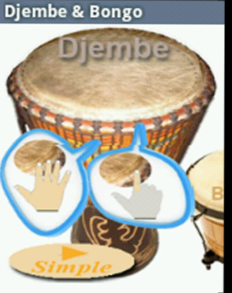 Virtual Djembe Bongo