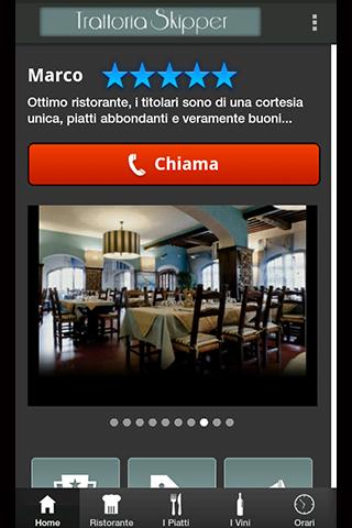 Trattoria Skipper App- screenshot