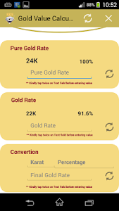 Gold Value Calculator screenshot 1
