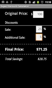 Super Shopping Calculator screenshot 1