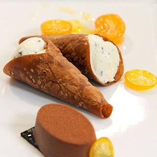 Ricotta-Filled Chocolate Cannoli.