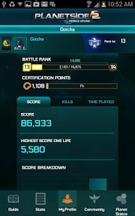 PlanetSide 2 Mobile Uplink - screenshot thumbnail