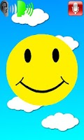 Screenshot of Miley the talking smiley face