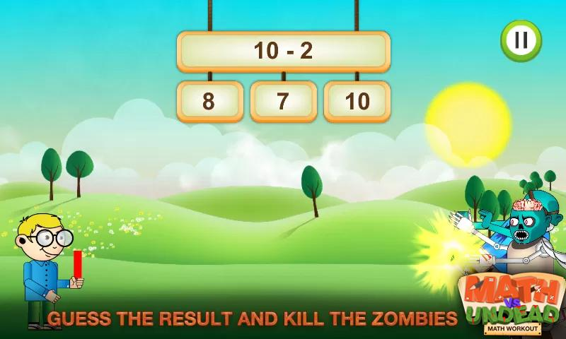 Math vs. Undead: Math Workout - screenshot