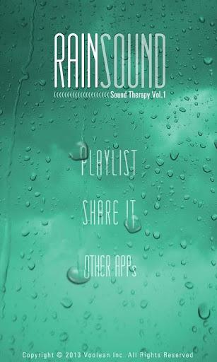 RAIN SOUND - Sound Therapy