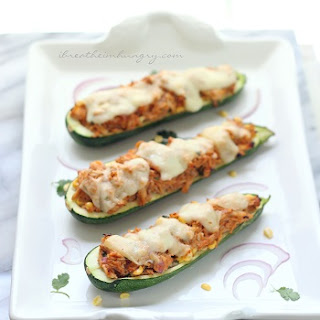 BBQ Chicken Stuffed Zucchini – Low Carb and Gluten Free.