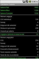 Screenshot of Calculator Salariu