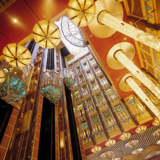 Costa-Atlantica-atrium - Costa Atlantica's soaring 10-deck atrium.
