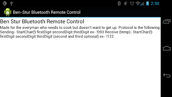 Ben Stur Bluetooth Pot Control- screenshot thumbnail