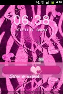 GO Locker Pink Zebra Heart- screenshot thumbnail