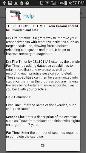 Dry Fire Par Time Tracker 1.96 screenshots 7
