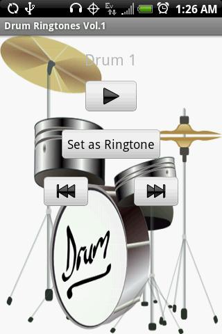 DRUM Ringtones Vol.1 - screenshot