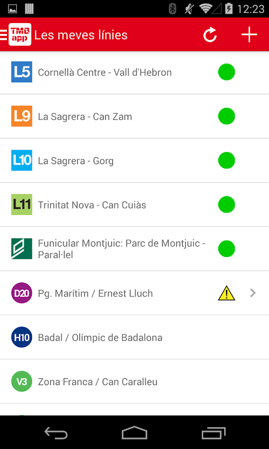 TMBAPP (Metro Bus Barcelona) - screenshot