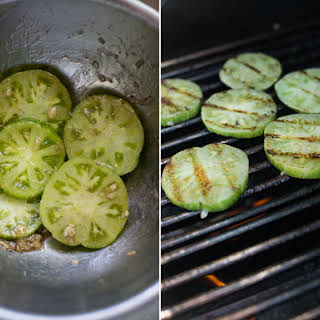 Grilled Green Tomatoes.