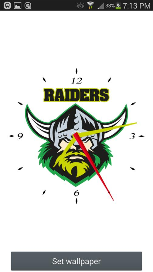Canberra Raiders Analog Clock- screenshot