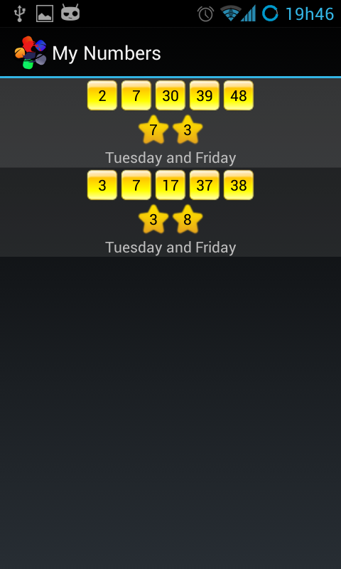 Euromillions Notifier - screenshot