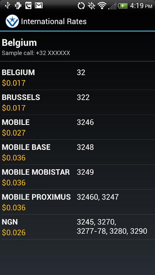 V-Star Mobile VoIP / SIP Phone - screenshot