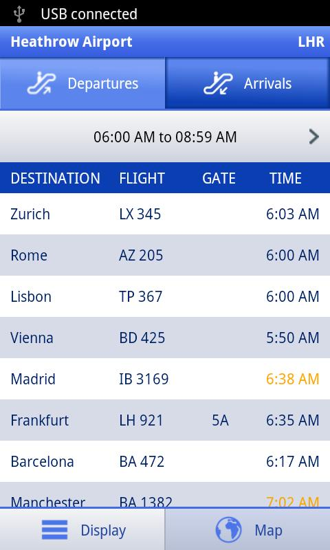 Arrivals & Departures - screenshot