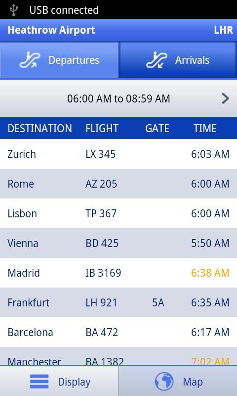 Arrivals & Departures - screenshot