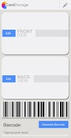 Screenshot of Card Storage