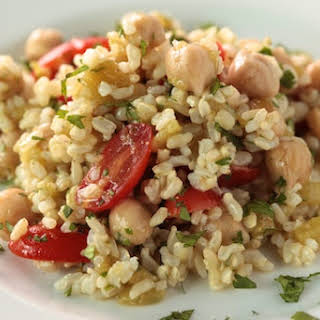 Brown Rice Salad with Cumin and Lime Vinaigrette.