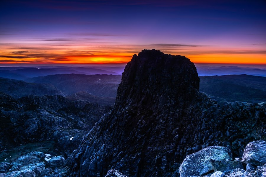 Sunrise by Ricardo Costa - Landscapes Mountains & Hills ( mountain, nature, serras, serra da estrela, sunrise, landscape, portugal, natural )