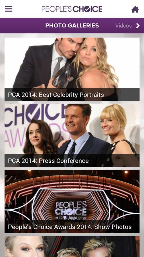 People's Choice Awards 2015 - screenshot