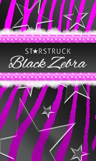 Purple Black Zebra Star Theme