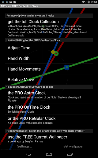 GeoMetric Clock Live Wallpaper 2.05 screenshots 3