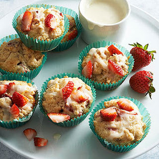 Strawberry Cream Scuffins