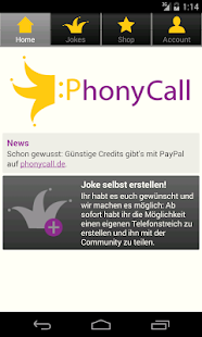 PhonyCall Telefonstreiche - screenshot thumbnail