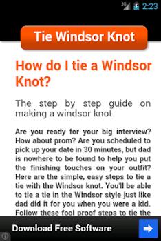 Tie Windsor Knot