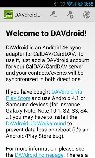 DAVdroid – CalDAV CardDAV Sync